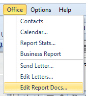 click office > edit report docs